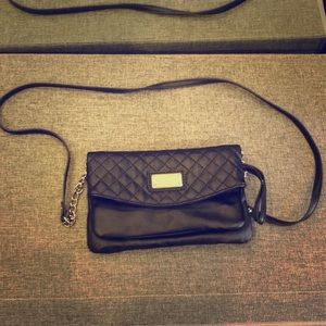 Nine West black quilted purse/clutch
